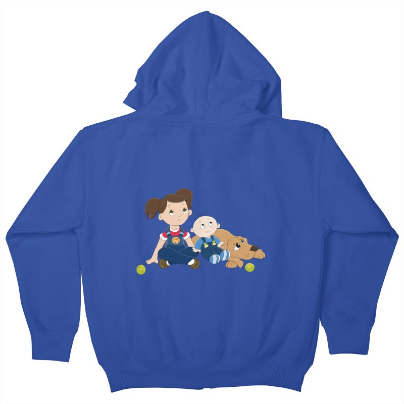 Millie and baby Max- Triple Trouble Kids Zip-Up Hoody by