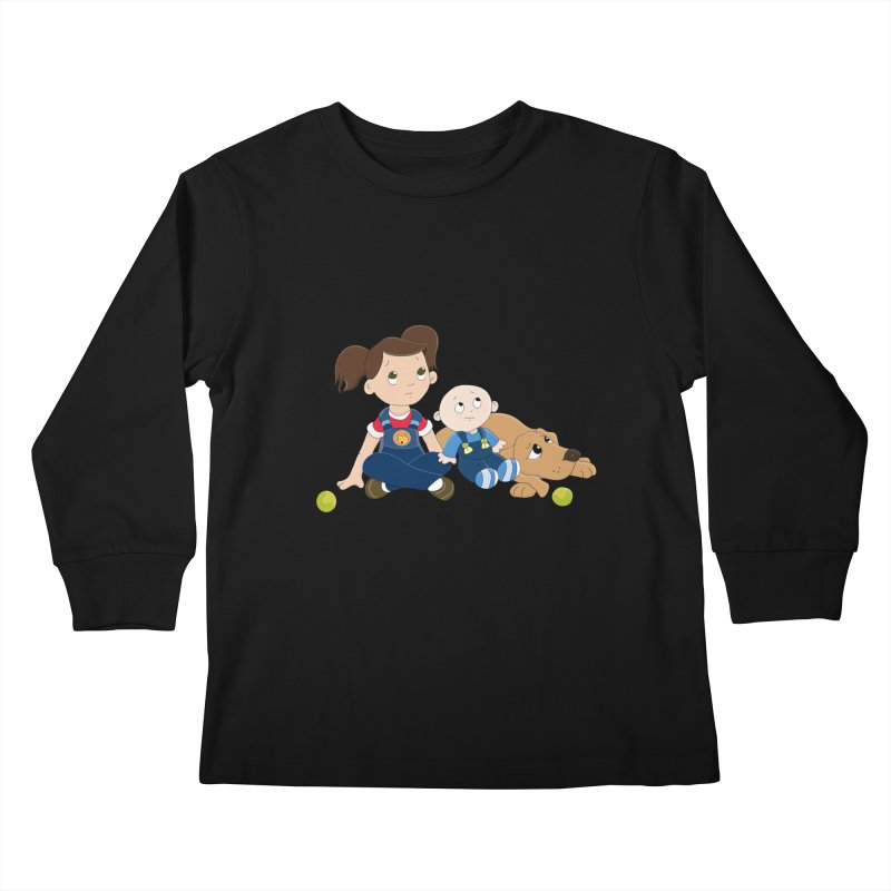 Millie and baby Max- Triple Trouble Kids Longsleeve T-Shirt by