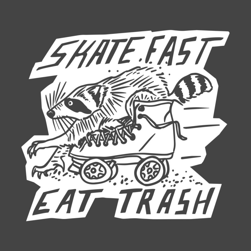 SKATE FAST EAT TRASH Reverse Men's Longsleeve T-Shirt by Bull City Roller Derby Shop