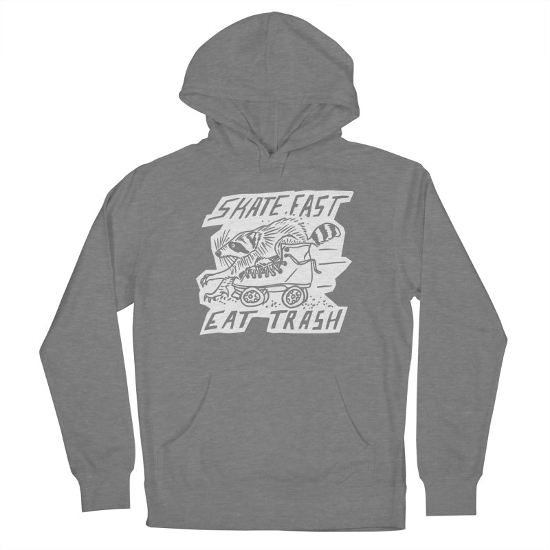 SKATE FAST EAT TRASH Reverse Women's Pullover Hoody by Bull City Roller Derby Shop
