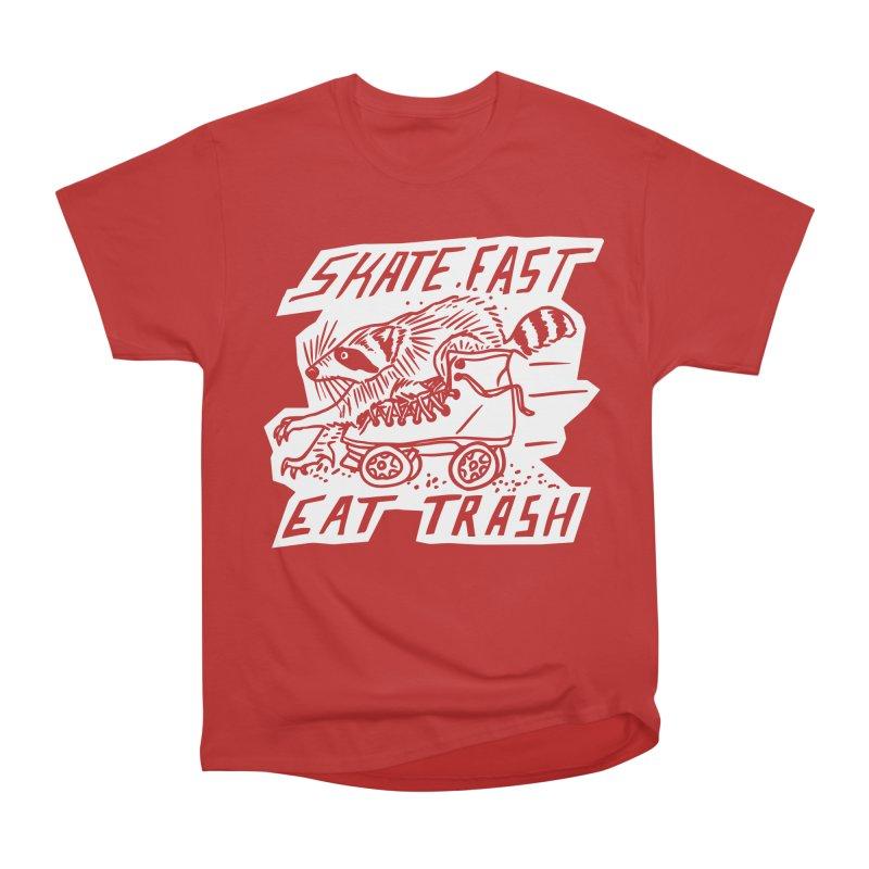 SKATE FAST EAT TRASH Reverse Men's T-Shirt by Bull City Roller Derby Shop