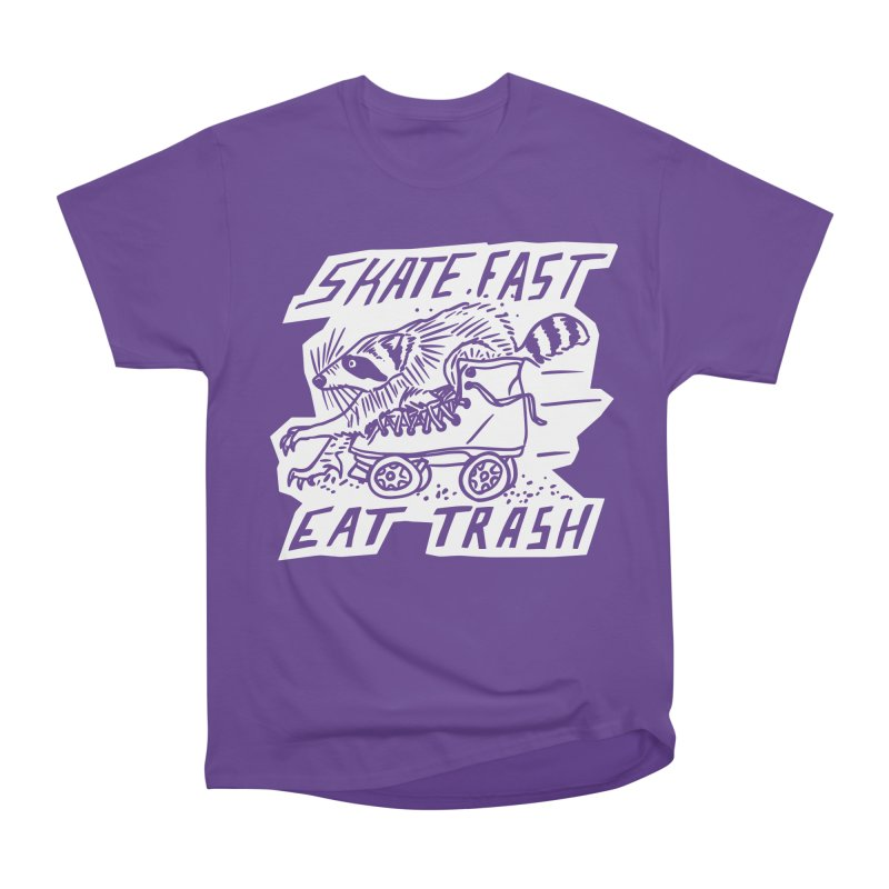 SKATE FAST EAT TRASH Reverse Men's Heavyweight T-Shirt by Bull City Roller Derby Shop