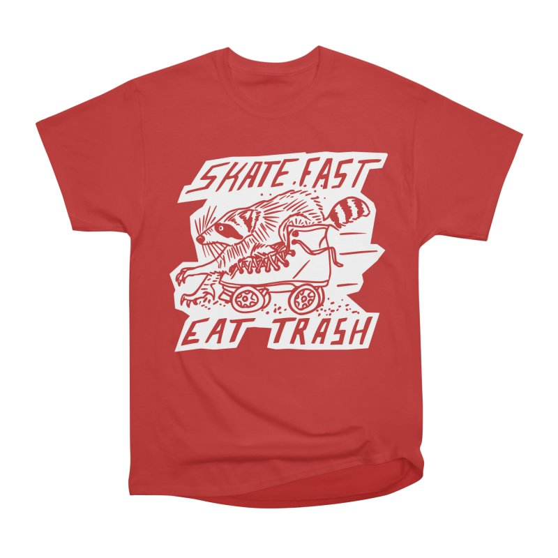 SKATE FAST EAT TRASH Reverse Women's T-Shirt by Bull City Roller Derby Shop