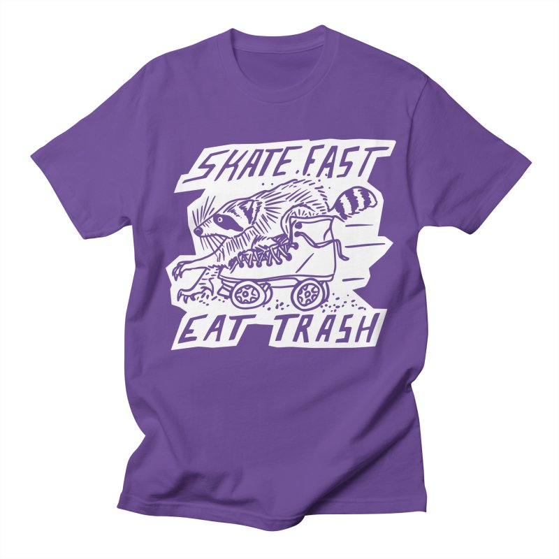 SKATE FAST EAT TRASH Reverse Men's T-Shirt by Bull City Roller Derby Shop