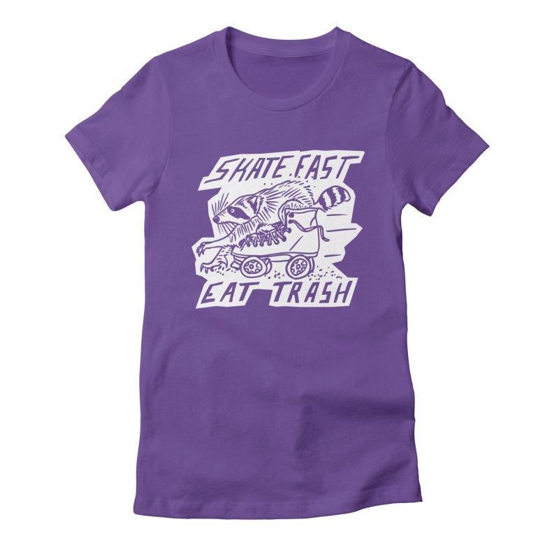 SKATE FAST EAT TRASH Reverse Women's T-Shirt by Bull City Roller Derby Shop