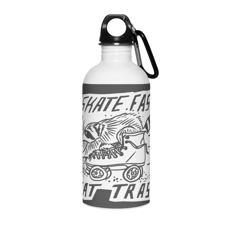 SKATE FAST EAT TRASH Reverse Accessories Water Bottle by Bull City Roller Derby Shop