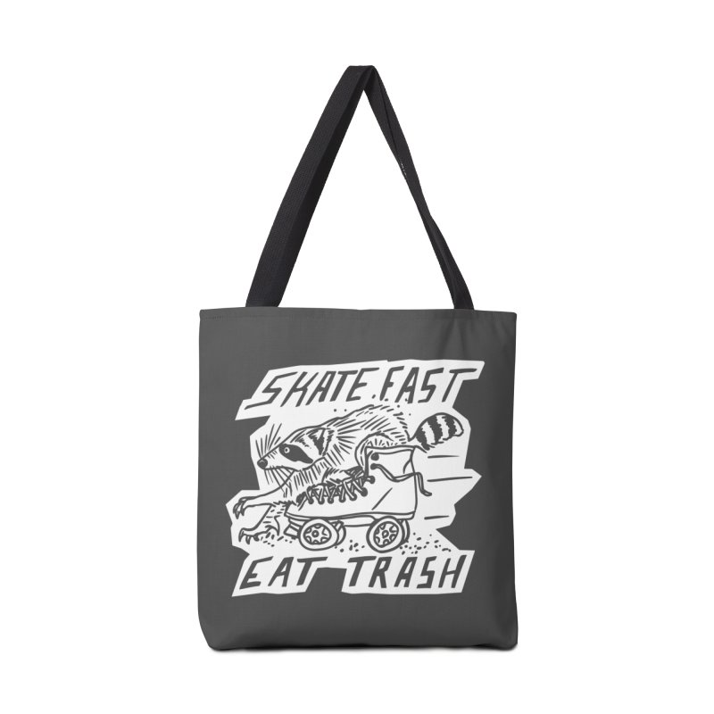 SKATE FAST EAT TRASH Reverse Accessories Tote Bag Bag by Bull City Roller Derby Shop
