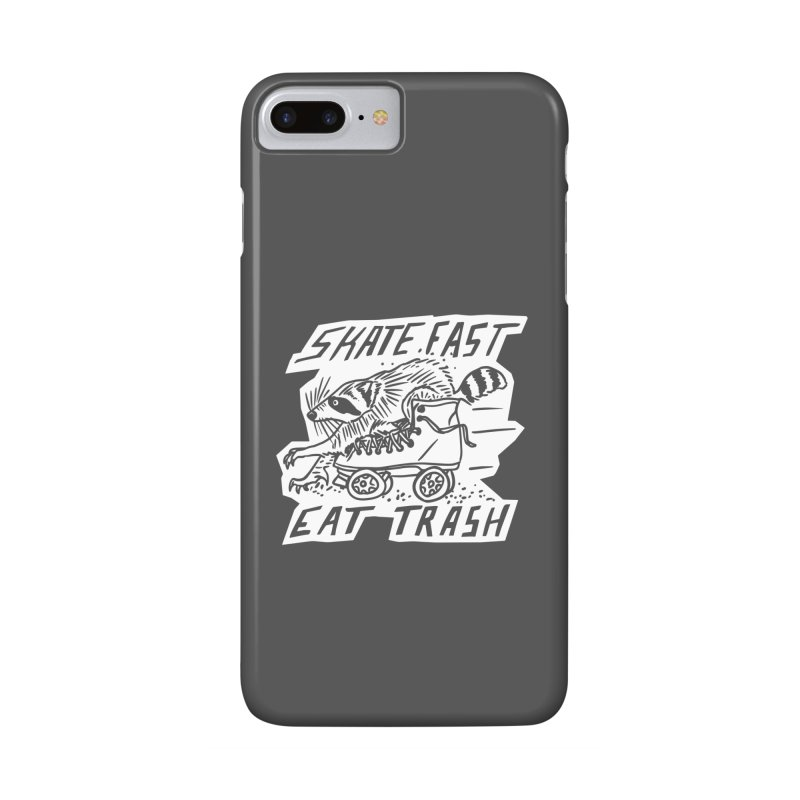 SKATE FAST EAT TRASH Reverse Accessories Phone Case by Bull City Roller Derby Shop