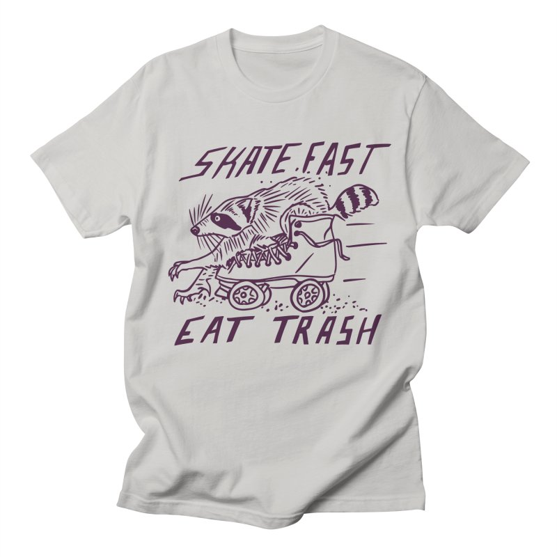 SKATE FAST EAT TRASH Men's T-Shirt by Bull City Roller Derby Shop