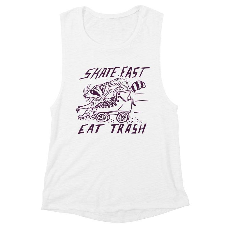 SKATE FAST EAT TRASH Women's Tank by Bull City Roller Derby Shop
