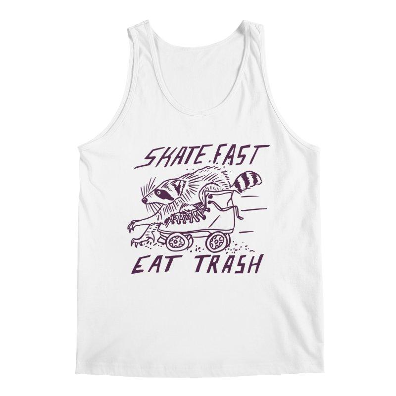 SKATE FAST EAT TRASH Men's Regular Tank by Bull City Roller Derby Shop