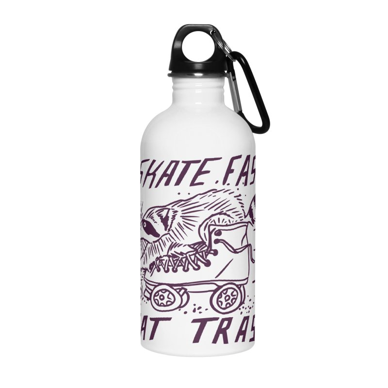 SKATE FAST EAT TRASH Accessories Water Bottle by Bull City Roller Derby Shop