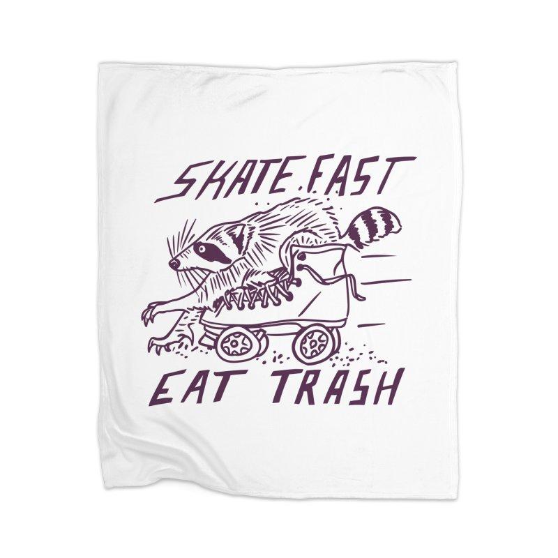 SKATE FAST EAT TRASH Home Blanket by Bull City Roller Derby Shop