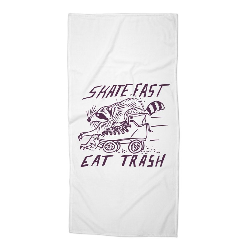 SKATE FAST EAT TRASH Accessories Beach Towel by Bull City Roller Derby Shop