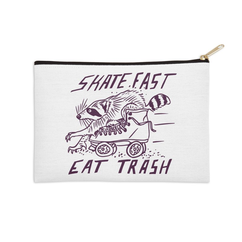 SKATE FAST EAT TRASH Accessories Zip Pouch by Bull City Roller Derby Shop