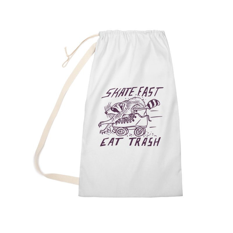 SKATE FAST EAT TRASH Accessories Laundry Bag Bag by Bull City Roller Derby Shop