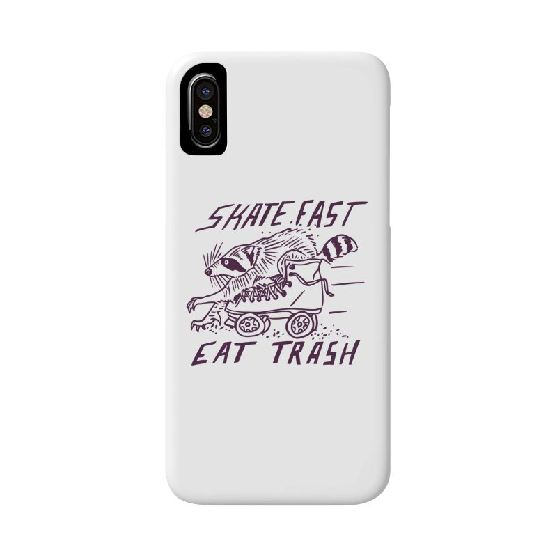 SKATE FAST EAT TRASH Accessories Phone Case by Bull City Roller Derby Shop