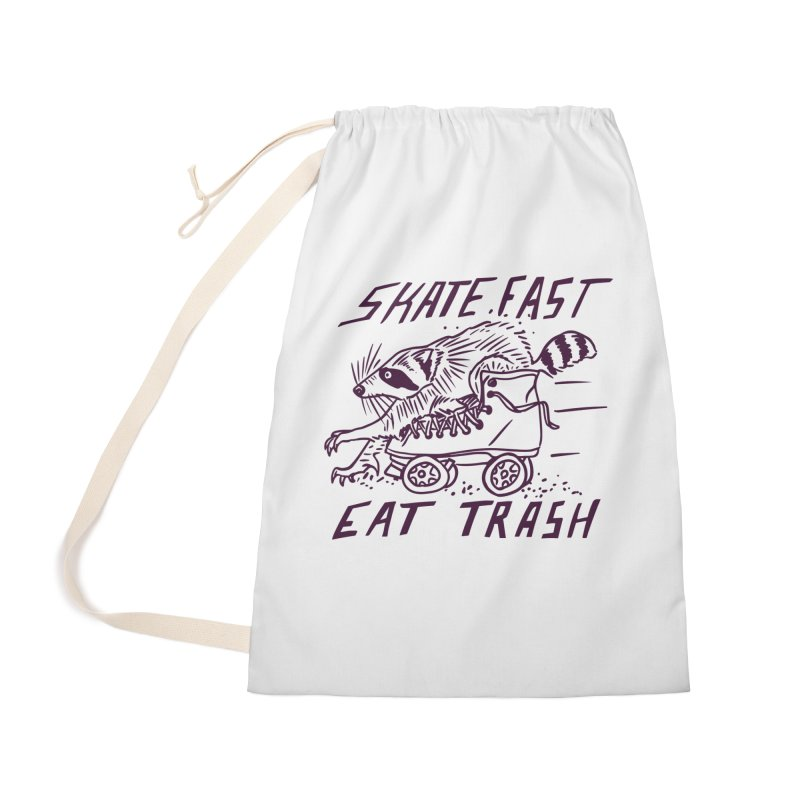 SKATE FAST EAT TRASH Accessories Bag by Bull City Roller Derby Shop