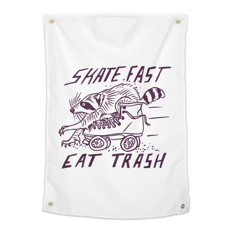 SKATE FAST EAT TRASH Home Tapestry by Bull City Roller Derby Shop