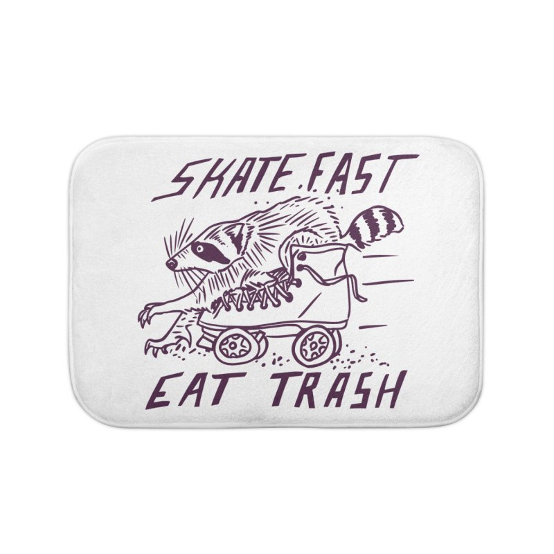 SKATE FAST EAT TRASH Home Bath Mat by Bull City Roller Derby Shop