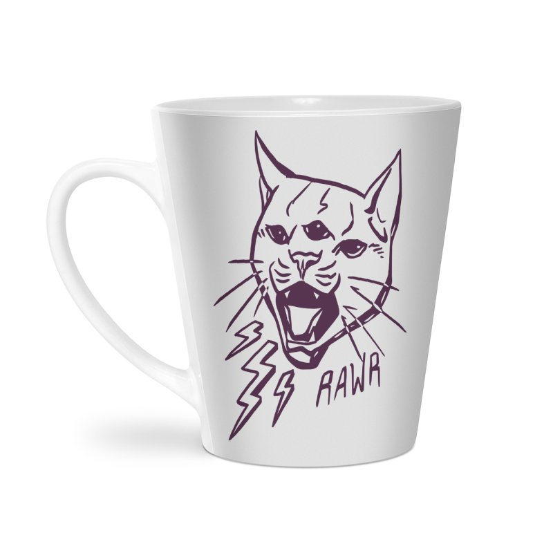 THUNDERCAT HOOOO! Accessories Latte Mug by Bull City Roller Derby Shop