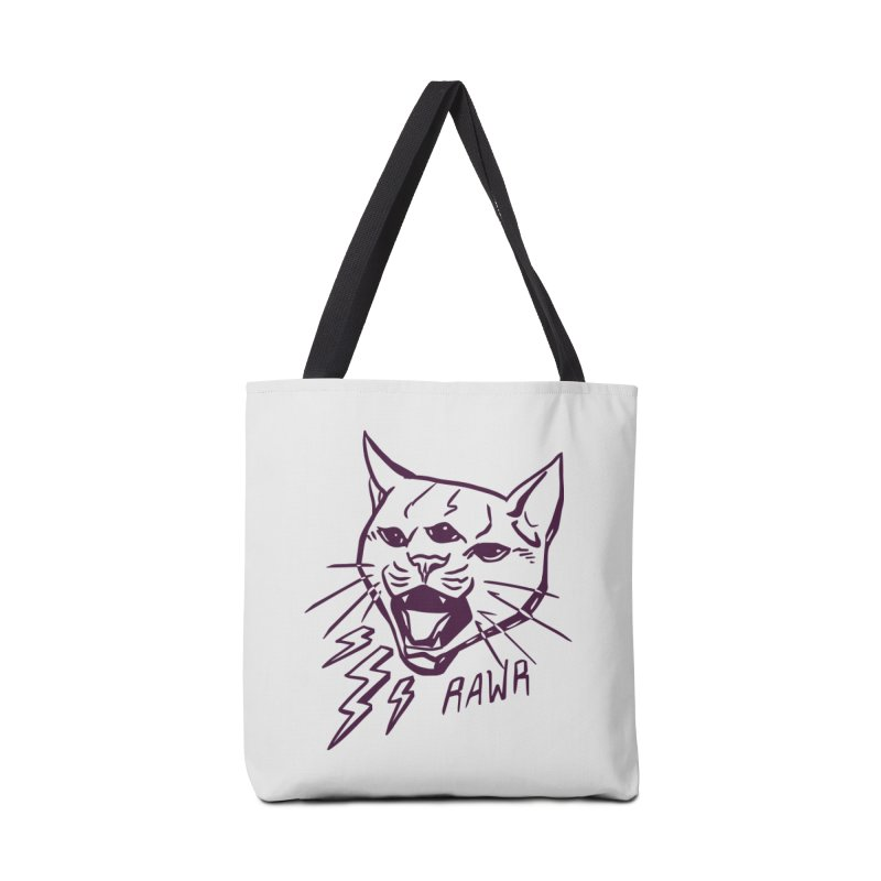 THUNDERCAT HOOOO! Accessories Tote Bag Bag by Bull City Roller Derby Shop
