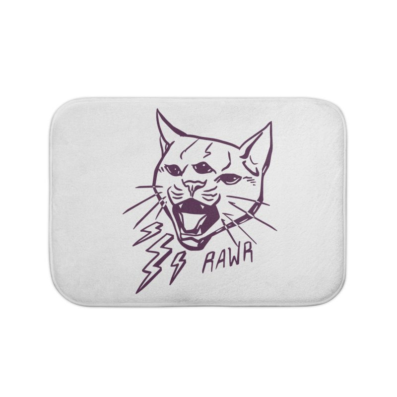 THUNDERCAT HOOOO! Home Bath Mat by Bull City Roller Derby Shop
