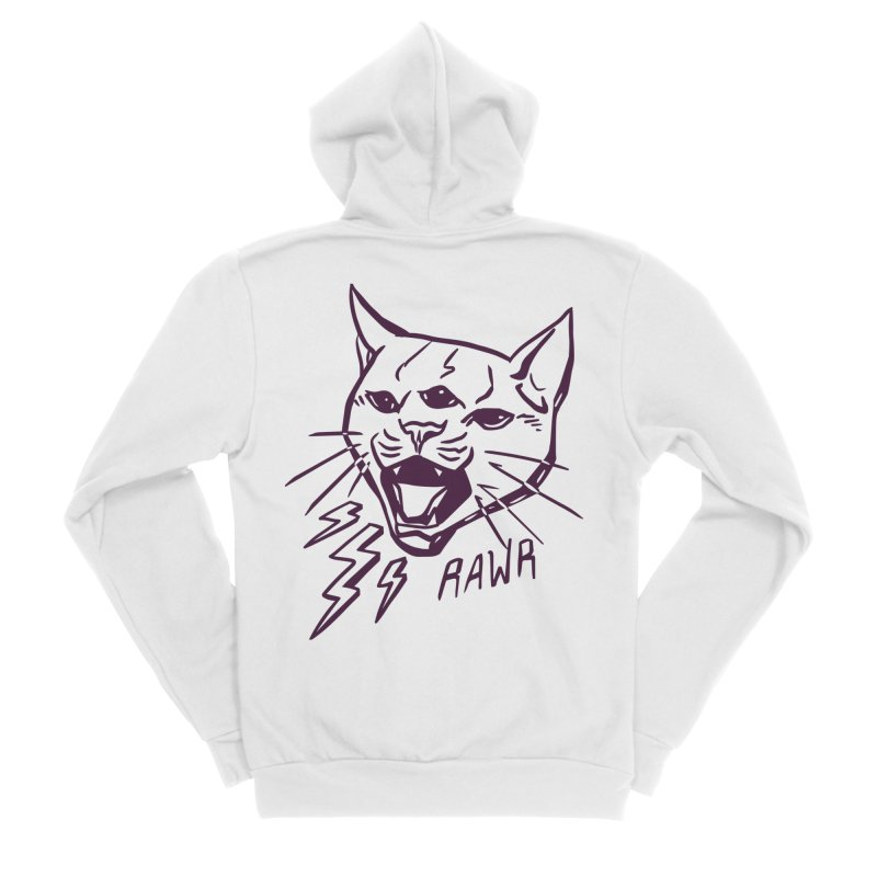 THUNDERCAT HOOOO! Women's Zip-Up Hoody by Bull City Roller Derby Shop