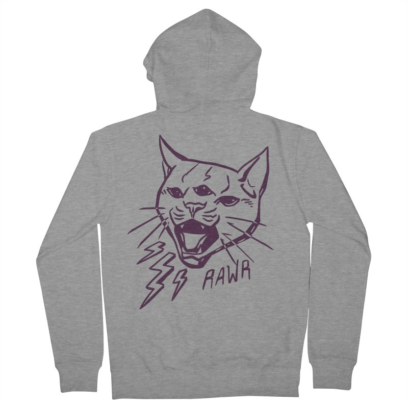 THUNDERCAT HOOOO! Women's French Terry Zip-Up Hoody by Bull City Roller Derby Shop