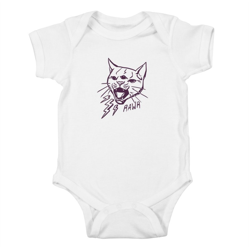 THUNDERCAT HOOOO! Kids Baby Bodysuit by Bull City Roller Derby Shop