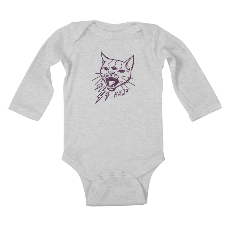 THUNDERCAT HOOOO! Kids Baby Longsleeve Bodysuit by Bull City Roller Derby Shop
