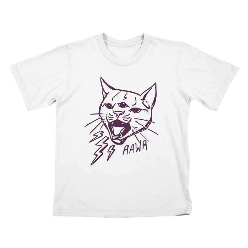 THUNDERCAT HOOOO! Kids T-Shirt by Bull City Roller Derby Shop