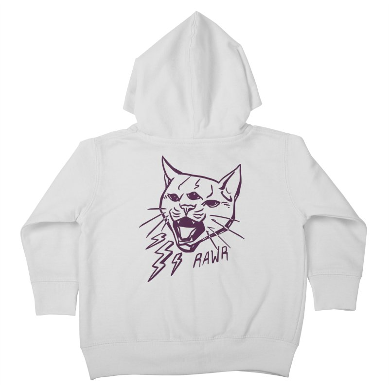 THUNDERCAT HOOOO! Kids Toddler Zip-Up Hoody by Bull City Roller Derby Shop