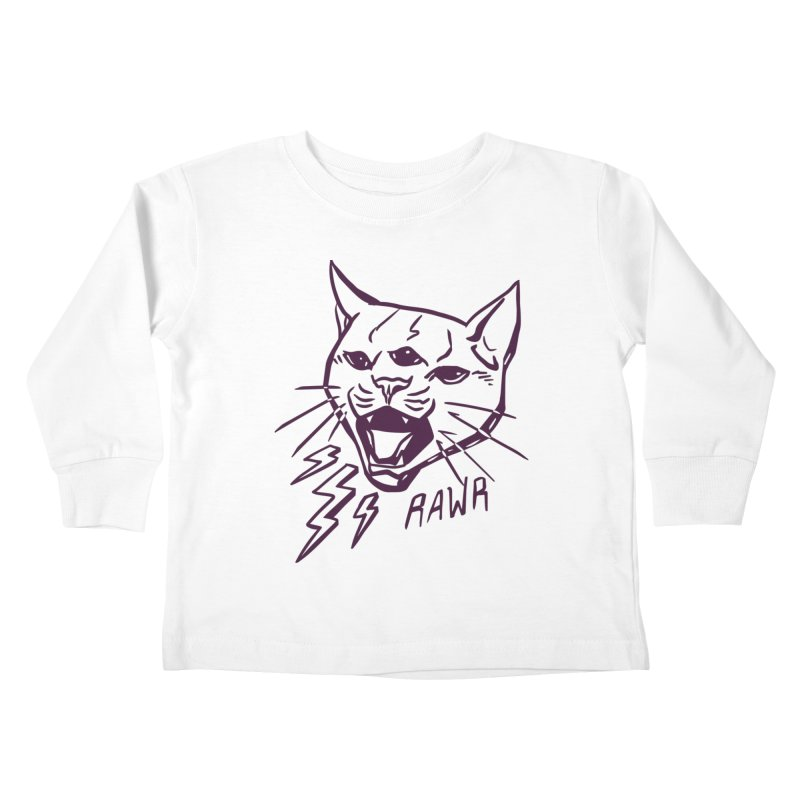 THUNDERCAT HOOOO! Kids Toddler Longsleeve T-Shirt by Bull City Roller Derby Shop