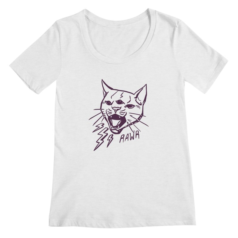 THUNDERCAT HOOOO! Women's Scoop Neck by Bull City Roller Derby Shop