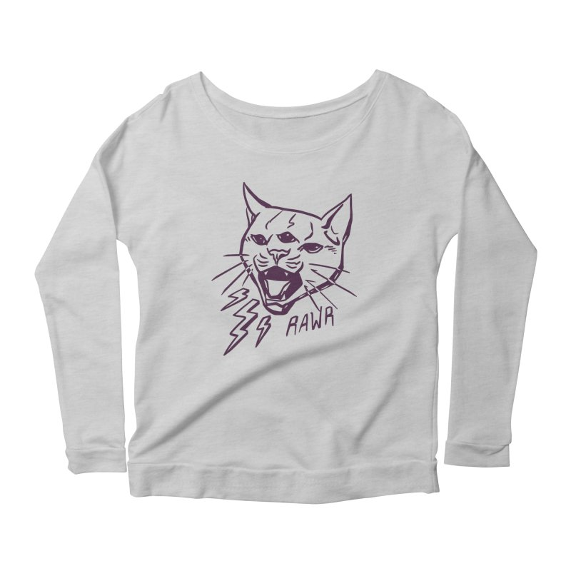 THUNDERCAT HOOOO! Women's Scoop Neck Longsleeve T-Shirt by Bull City Roller Derby Shop