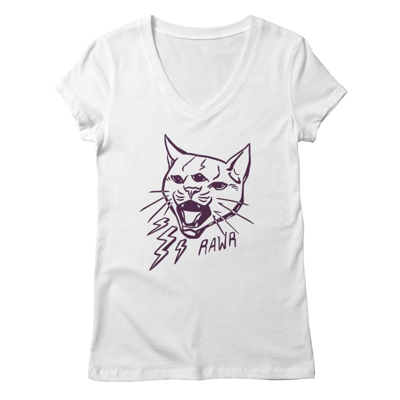 THUNDERCAT HOOOO! Women's Regular V-Neck by Bull City Roller Derby Shop