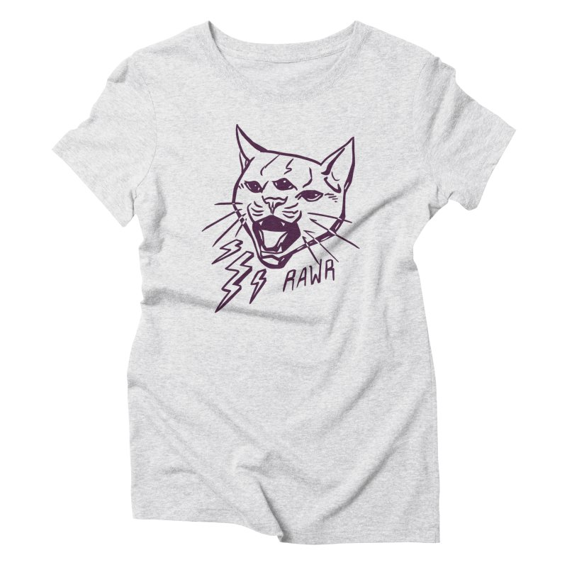 THUNDERCAT HOOOO! Women's Triblend T-Shirt by Bull City Roller Derby Shop