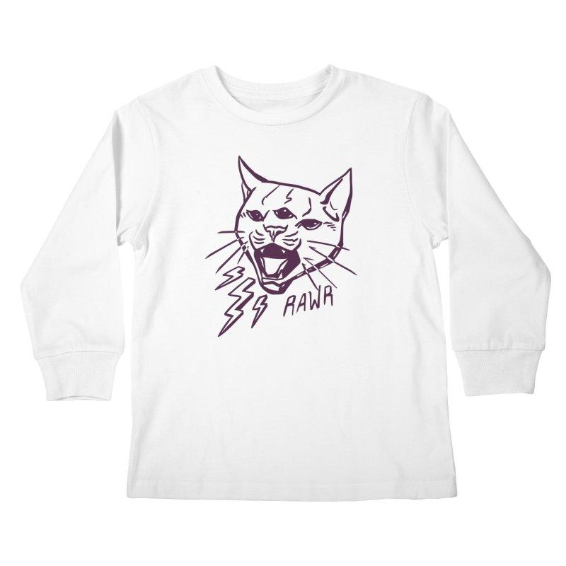 THUNDERCAT HOOOO! Kids Longsleeve T-Shirt by Bull City Roller Derby Shop