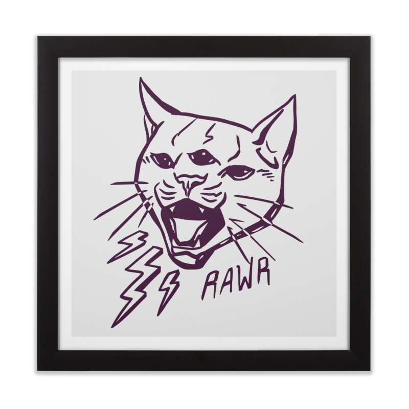THUNDERCAT HOOOO! Home Framed Fine Art Print by Bull City Roller Derby Shop