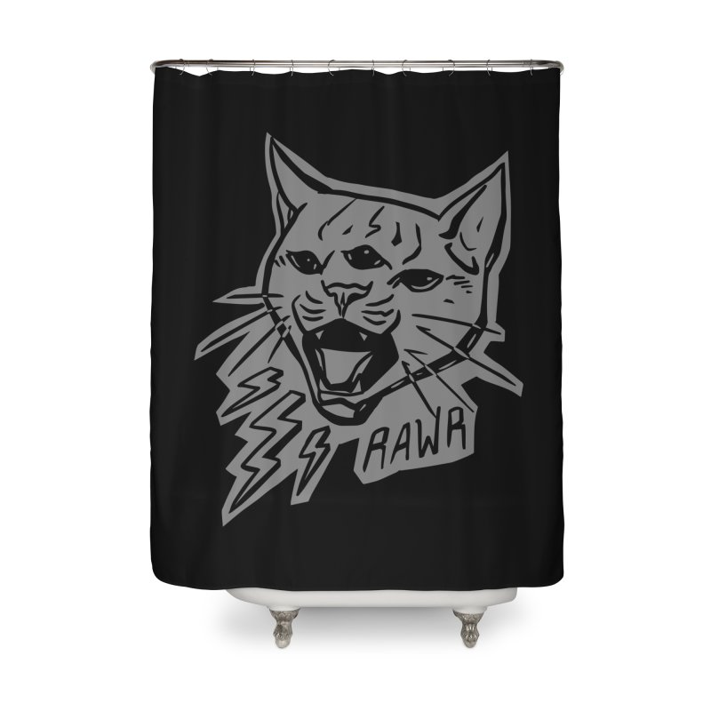 THUNDERCAT HOOOO! Reverse Home Shower Curtain by Bull City Roller Derby Shop