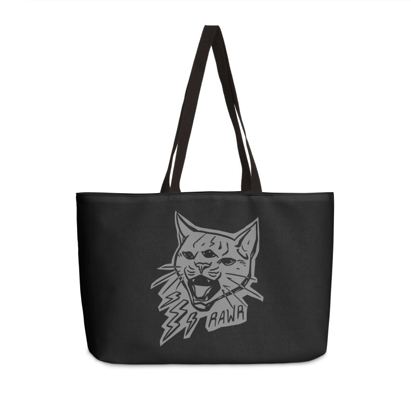 THUNDERCAT HOOOO! Reverse Accessories Weekender Bag Bag by Bull City Roller Derby Shop