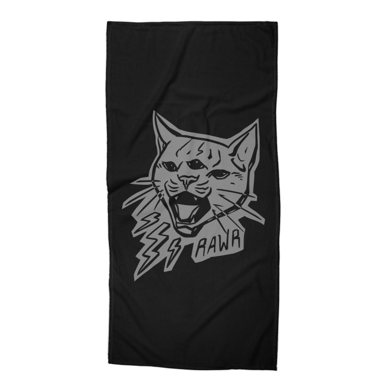 THUNDERCAT HOOOO! Reverse Accessories Beach Towel by Bull City Roller Derby Shop