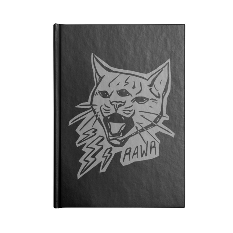 THUNDERCAT HOOOO! Reverse Accessories Blank Journal Notebook by Bull City Roller Derby Shop
