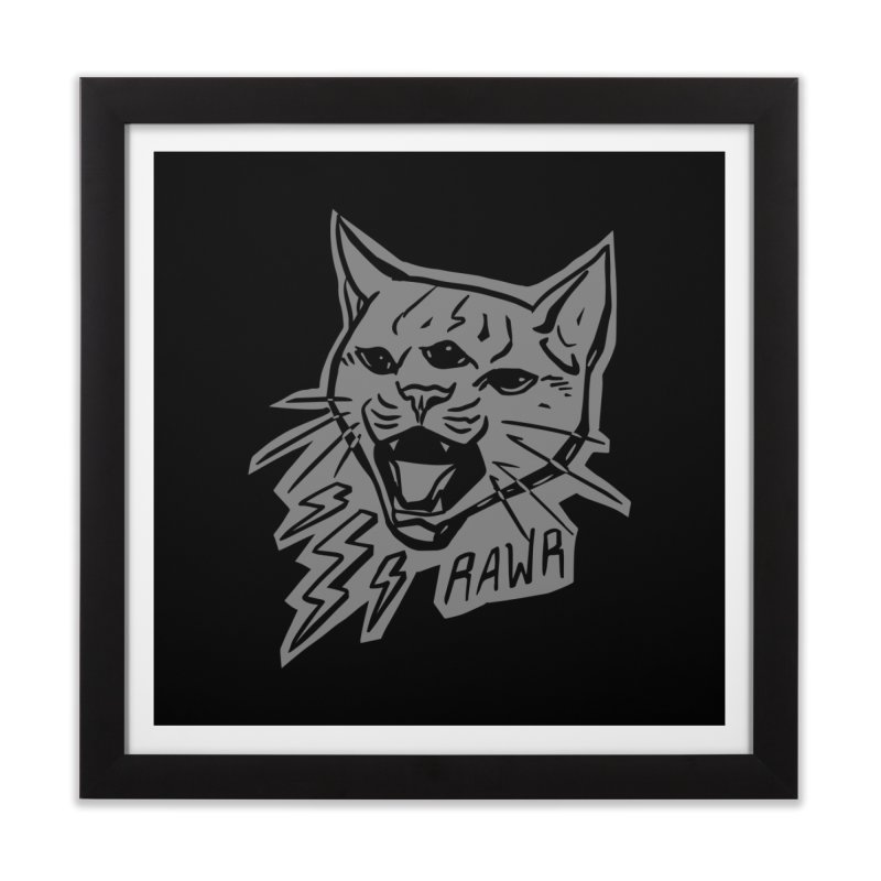 THUNDERCAT HOOOO! Reverse Home Framed Fine Art Print by Bull City Roller Derby Shop