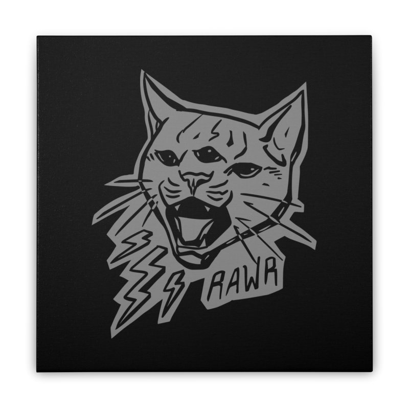 THUNDERCAT HOOOO! Reverse Home Stretched Canvas by Bull City Roller Derby Shop