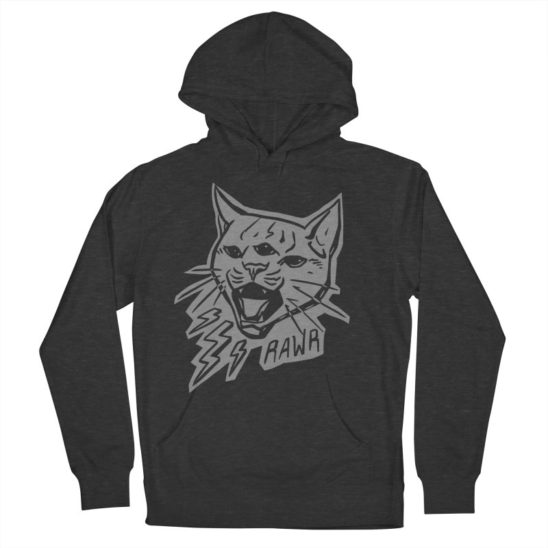 THUNDERCAT HOOOO! Reverse Men's French Terry Pullover Hoody by Bull City Roller Derby Shop