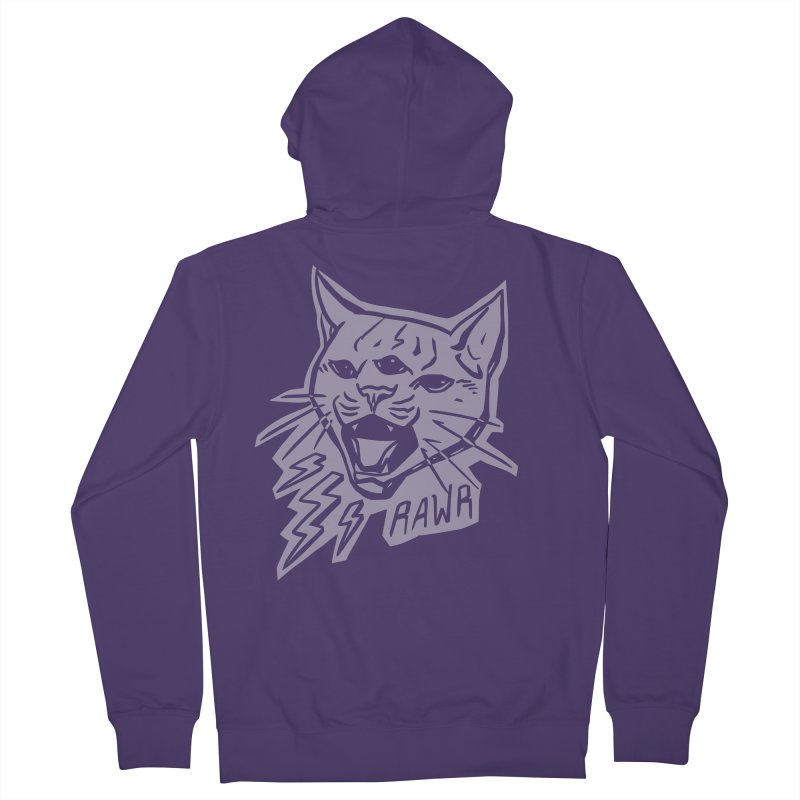 THUNDERCAT HOOOO! Reverse Women's French Terry Zip-Up Hoody by Bull City Roller Derby Shop