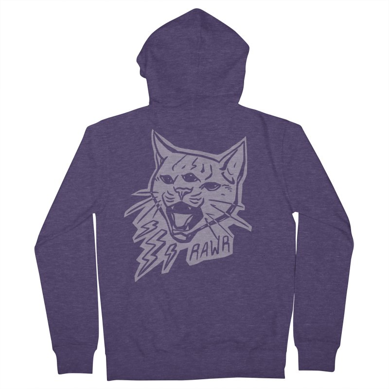 THUNDERCAT HOOOO! Reverse Men's French Terry Zip-Up Hoody by Bull City Roller Derby Shop
