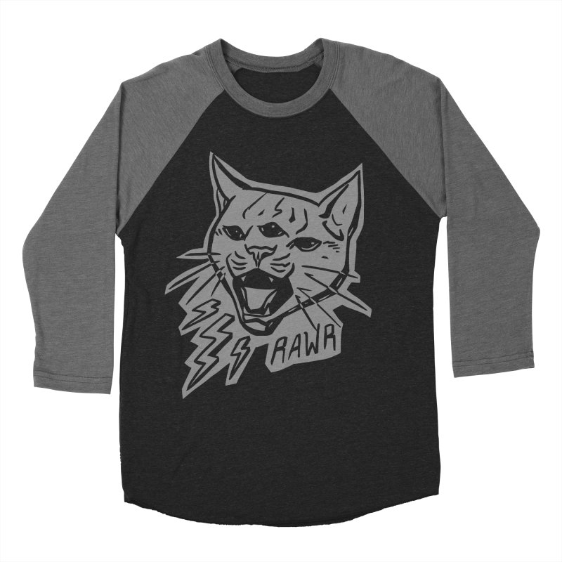 THUNDERCAT HOOOO! Reverse Men's Baseball Triblend Longsleeve T-Shirt by Bull City Roller Derby Shop